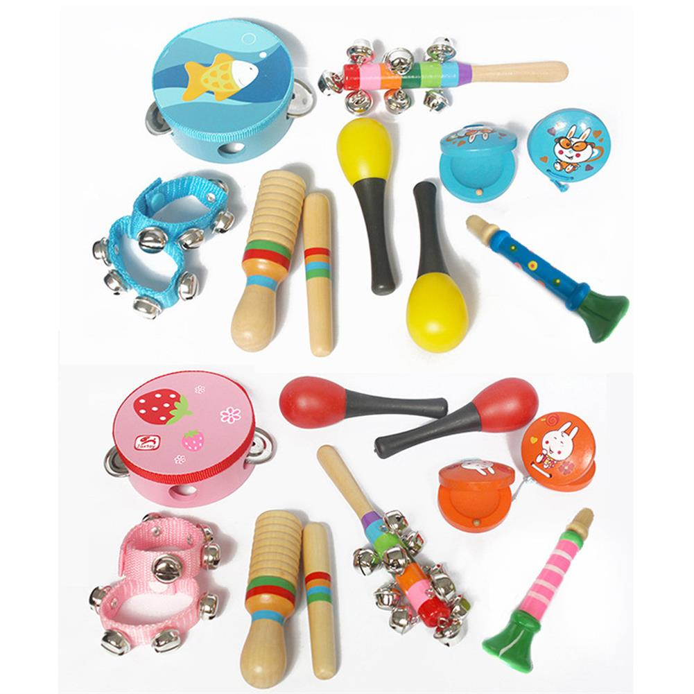 orff-instruments 10-Piece Set Orff Musical instruments Percussion Xylophone Set for Children HOB1653163