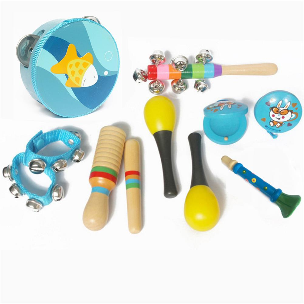 orff-instruments 10-Piece Set Orff Musical instruments Percussion Xylophone Set for Children HOB1653163 1