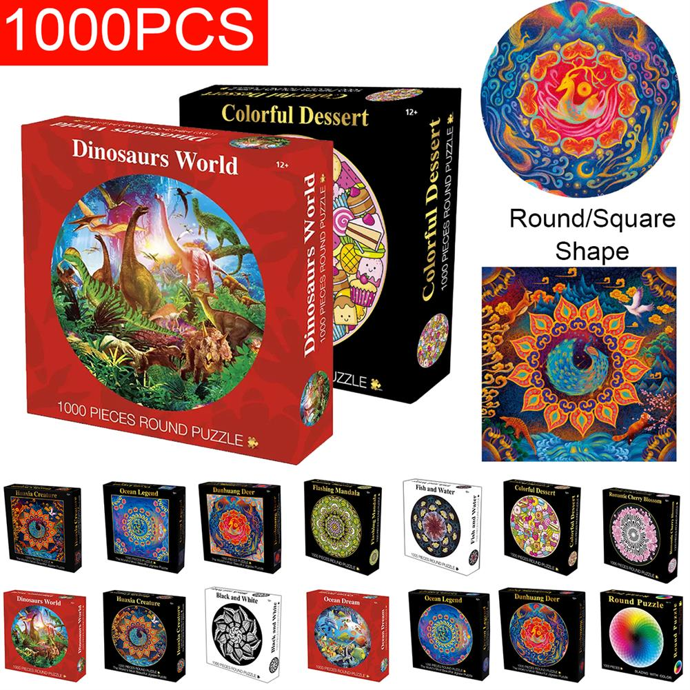puzzle-game-toys 1000 Pieces Thousands of Colors Rainbow Coil Series Children's Gift Jigsaw Puzzle Toy Educational Toys HOB1654342