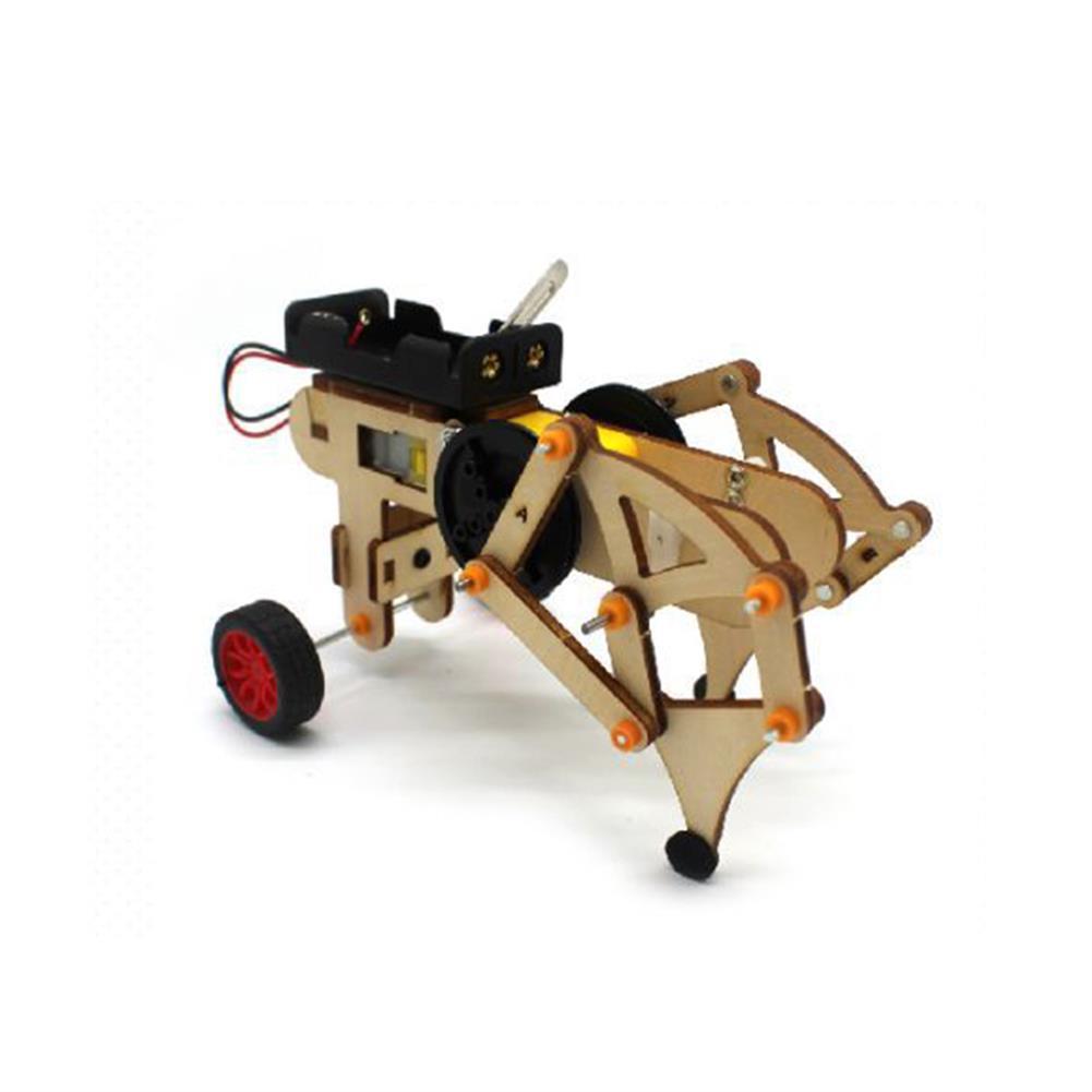 diy-education-robot DIY STEAM RC Robot Walking Wooden Assembled Robot Toy Kit HOB1655168