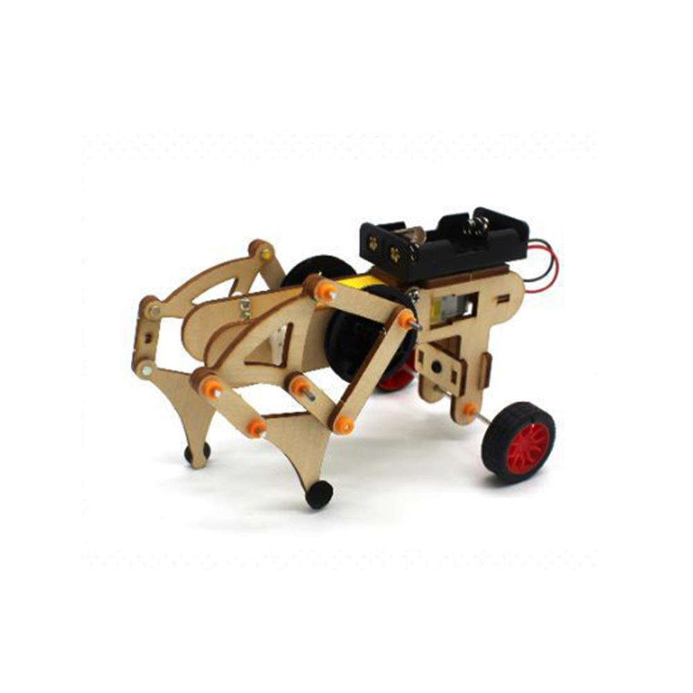 diy-education-robot DIY STEAM RC Robot Walking Wooden Assembled Robot Toy Kit HOB1655168 1