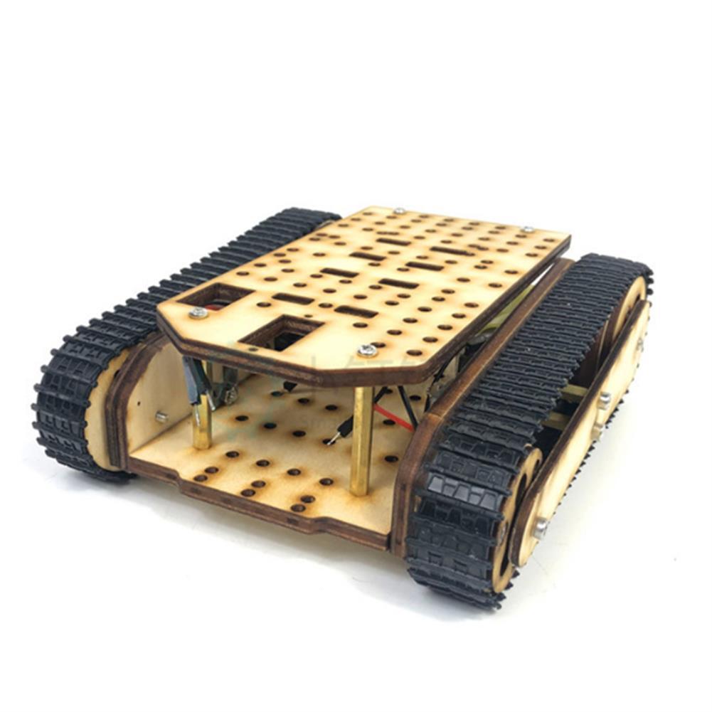diy-education-robot Small Hammer SN8600 DIY Wooden Tank Assembled Robot Kit HOB1655170