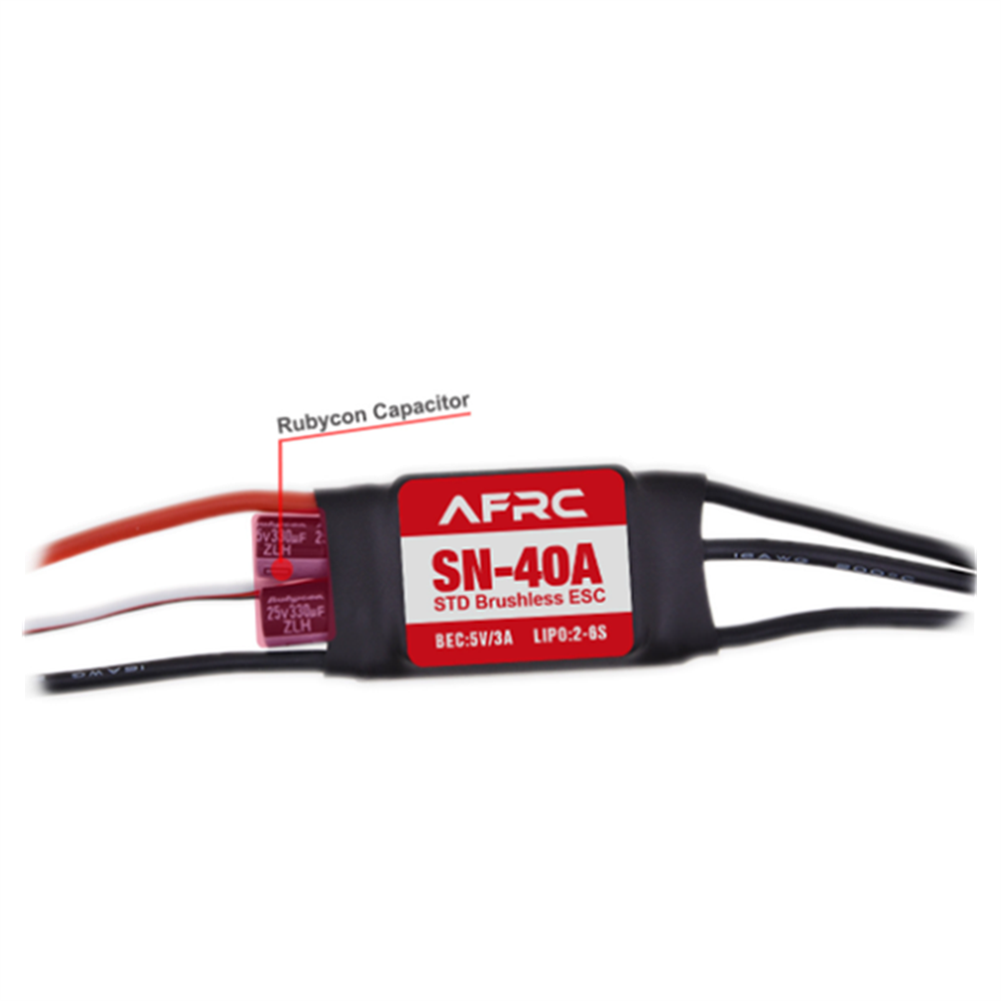 rc-airplane-parts AFRC SN-40A Micro Brushless ESC with 5V/3A BEC 2-6S for RC Airplane Spare Part HOB1655654 2