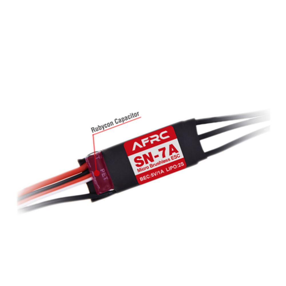 rc-airplane-parts AFRC SN-7A Micro Brushless ESC with 5V/1A BEC 2S for RC Airplane Spare Part HOB1655655 1