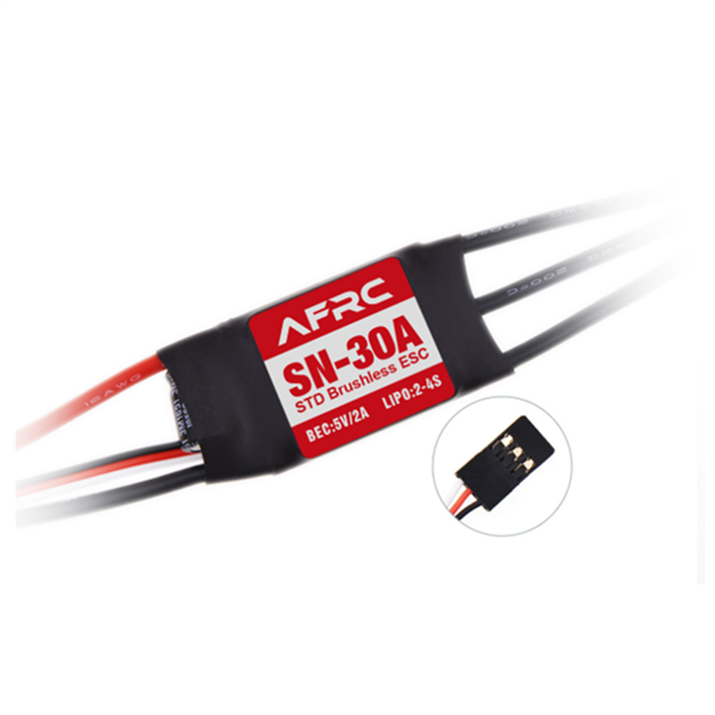 rc-airplane-parts AFRC SN-30A STD Brushless ESC with 5V/2A BEC 2-4S for RC Airplane Spare Part HOB1655656