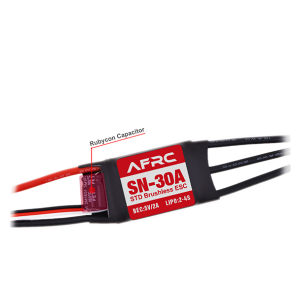 rc-airplane-parts AFRC SN-30A STD Brushless ESC with 5V/2A BEC 2-4S for RC Airplane Spare Part HOB1655656 2
