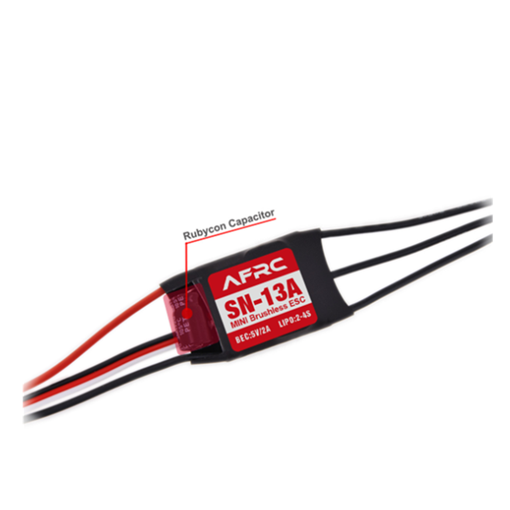 rc-airplane-parts AFRC SN-13A Micro Brushless ESC with 5V/2A BEC 2-4S for RC Airplane Spare Part HOB1655657 2