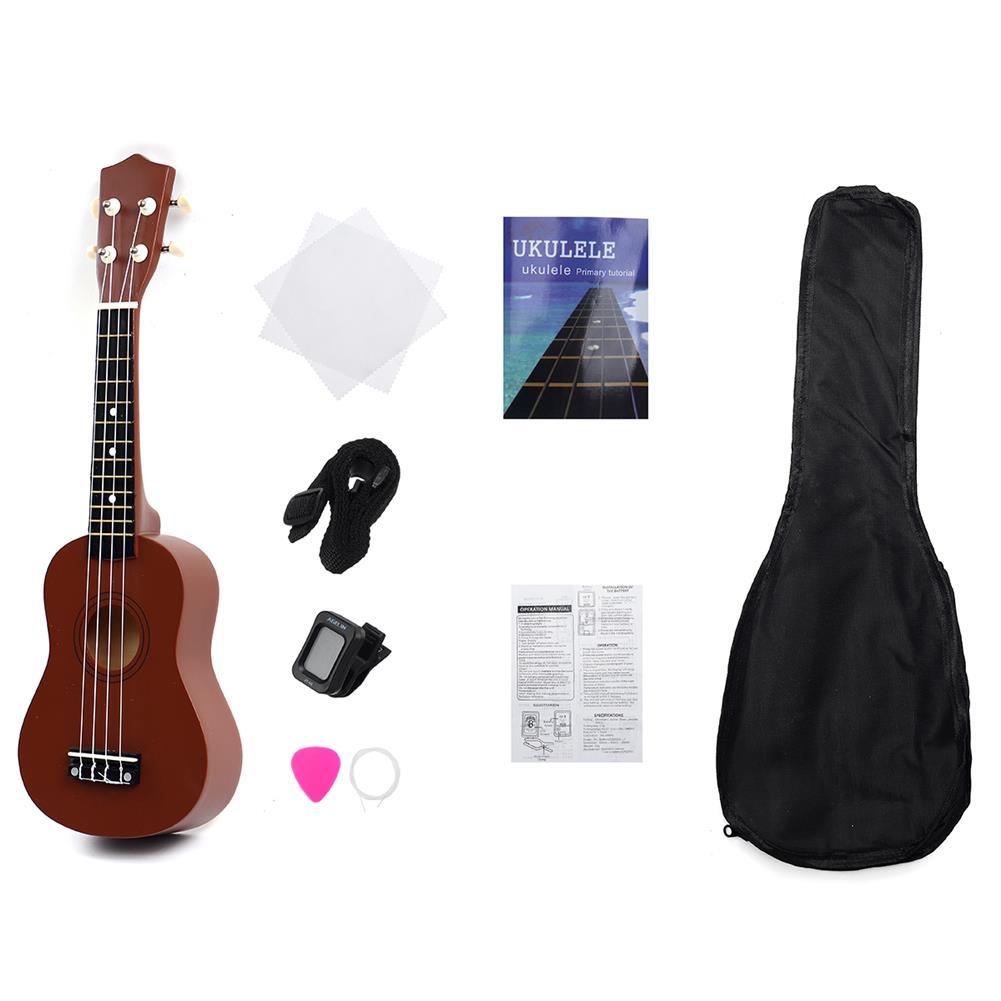 ukulele 21 inch 4 Strings Wood Hawaii Ukulele Musical instrument with Gig Bag Strings Tuner Strap HOB1656318