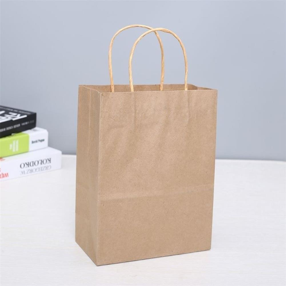 paper-art-drawing 25Pcs Shopping Gift Paper Party Bags W/ Handles Birthday Loot Bag 6.3x8.7x3.2 HOB1658703