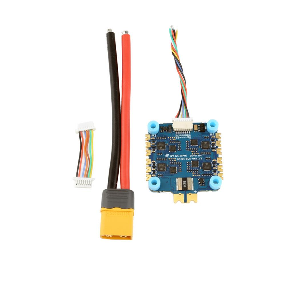 multi-rotor-parts 30.5x30.5mm CYCLONE XF305-BLS 45A BLheli_S 2-6S 4in1 Brushless ESC for RC Drone FPV Racing HOB1659673 2