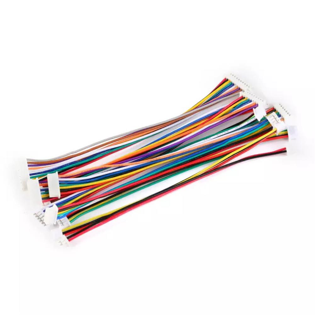 rc-quadcopter-parts 10Pcs DIY Micro Mini 1.25mm 2PIN/3PIN/4PIN/5PIN Single/Double JST Connector Terminal Plug Cable Wire 30CM for RC Model Battery HOB1662043 1