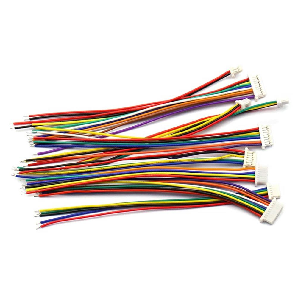 rc-quadcopter-parts 10Pcs DIY Micro Mini 1.25mm 2PIN/3PIN/4PIN/5PIN Single/Double JST Connector Terminal Plug Cable Wire 30CM for RC Model Battery HOB1662043 2