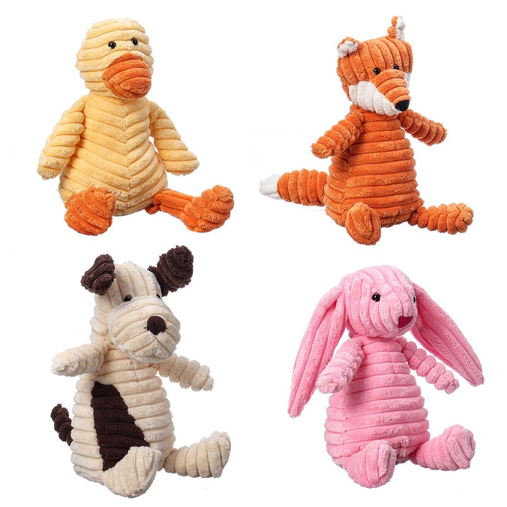 stuffed-plush-toys 23CM Funny Soft Pet Puppy Chew Play Squeaker Squeaky Cute Stuffed Plush Toy HOB1662065 1
