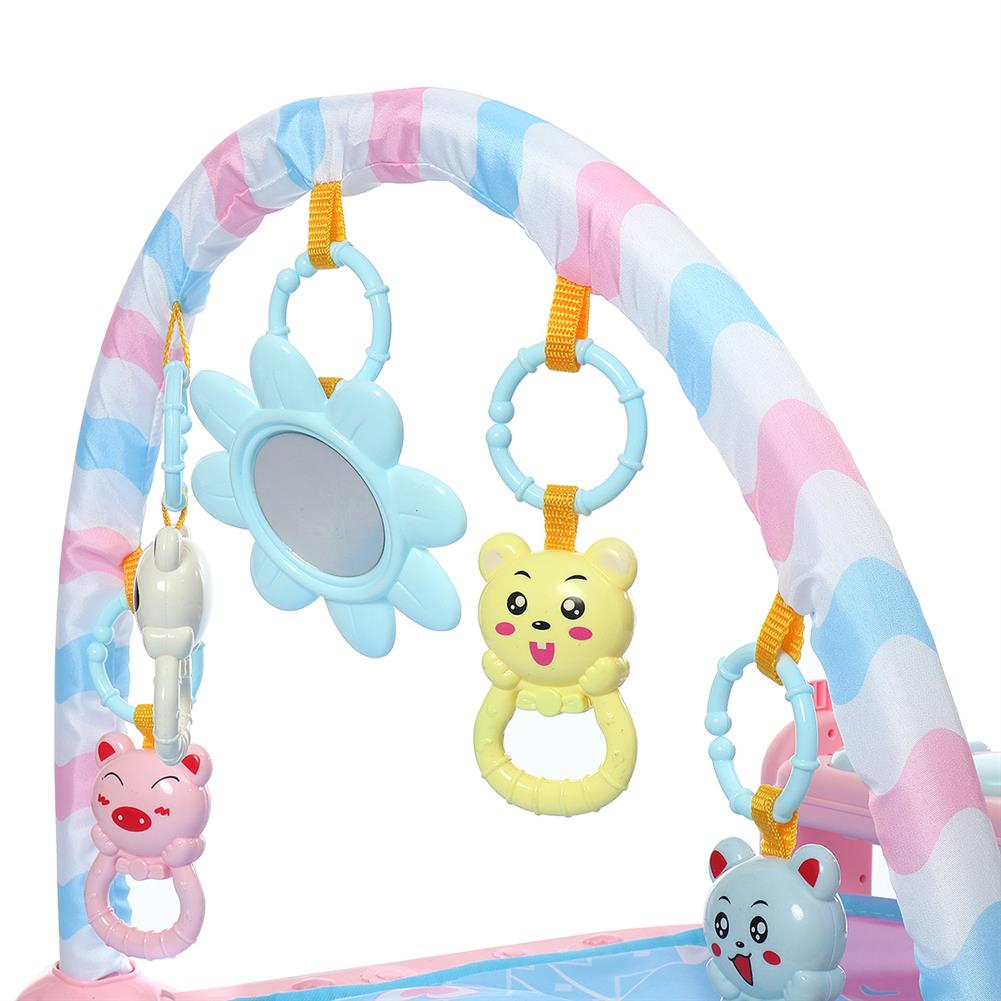 orff-instruments 3-in-1 Cute Rainforest Musical Lullaby Baby Activity Playmat Gym Toys Play Mat HOB1662150 3