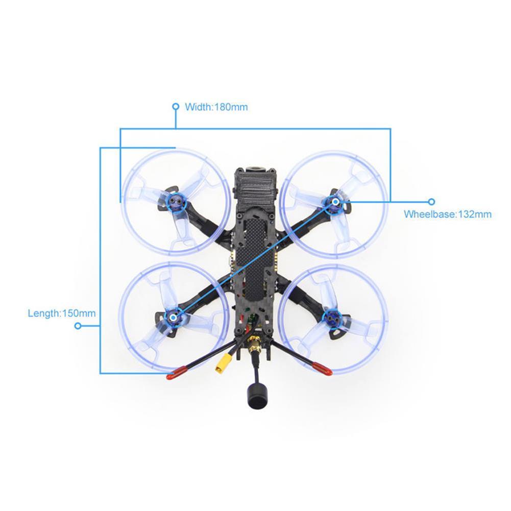 fpv-racing-drone HGLRC Sector132 HD 132mm 4S FPV Racing RC Drone DJI Air Unit Version Zeus35 AIO Flight Controller HOB1662555 3