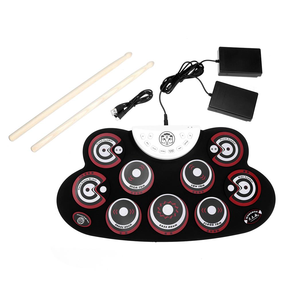 electronic-drums Roll-Up Drum Set 9 Silicon Electronic Drum Pads USB/Battery Powered for Kids HOB1663197