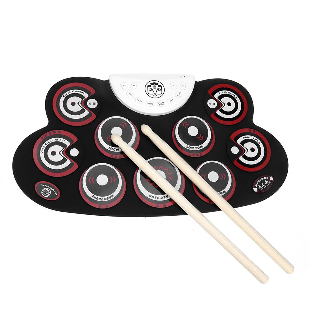 electronic-drums Roll-Up Drum Set 9 Silicon Electronic Drum Pads USB/Battery Powered for Kids HOB1663197 1