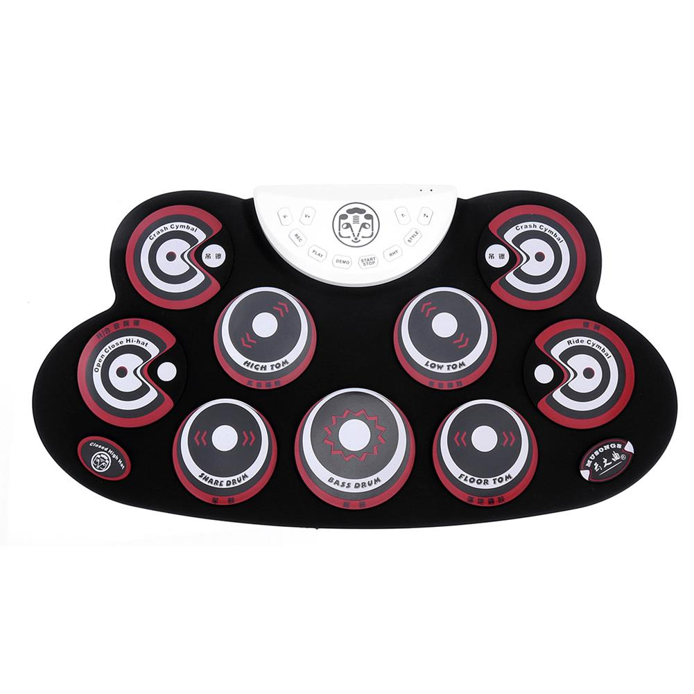 electronic-drums Roll-Up Drum Set 9 Silicon Electronic Drum Pads USB/Battery Powered for Kids HOB1663197 2