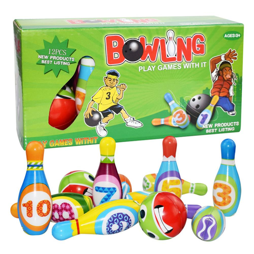 puzzle-game-toys Bowling Balls Set PU Safe Fun Educational Toys indoor Toys for Kids Gift HOB1663251