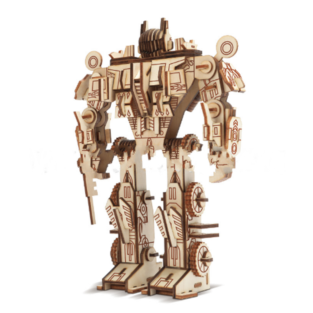 blocks-track-toys 3D 3-dimensional Puzzle Wooden Educational Toys Decompression Assembled Robot Model indoor Toys HOB1664083