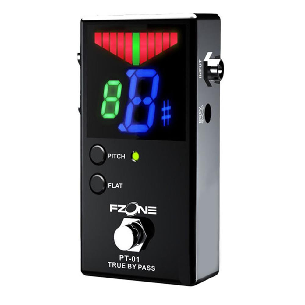 guitar-accessories FZONE LED Digital Display Electric Guitar Effects Pedal True Bypass Sensitive Tuning with Pitch and Flat HOB1664154