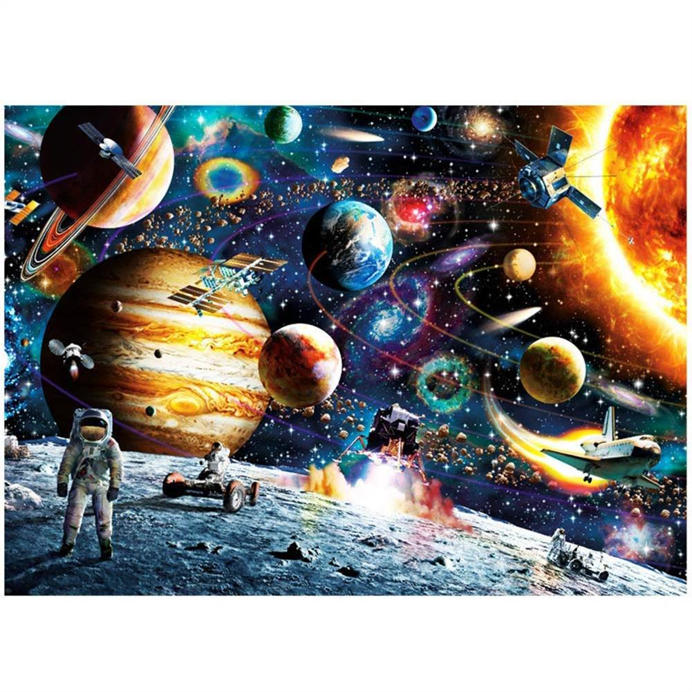 puzzle-game-toys 1000 Pieces DIY Space Traveler Scene Flat Paper Jigsaw Puzzle Decompression Educational indoor Toys HOB1664287