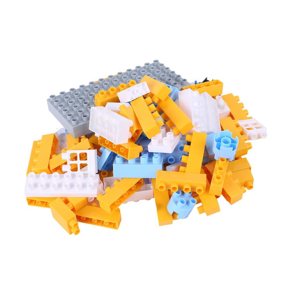 blocks-track-toys Goldkids HJ-35005A 80PCS Kitchen Series Pentagram Bucket DIY Assembly Blocks Toys for Children Gift HOB1664677 1