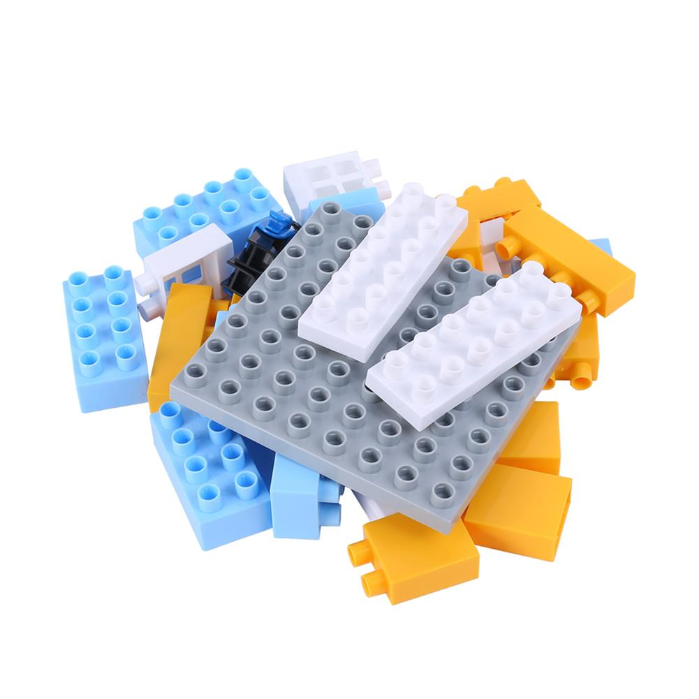blocks-track-toys Goldkids HJ-35001A 31PCS Kitchen Series Clock Bucket DIY Assembly Blocks Toys for Children Gift HOB1664682 1