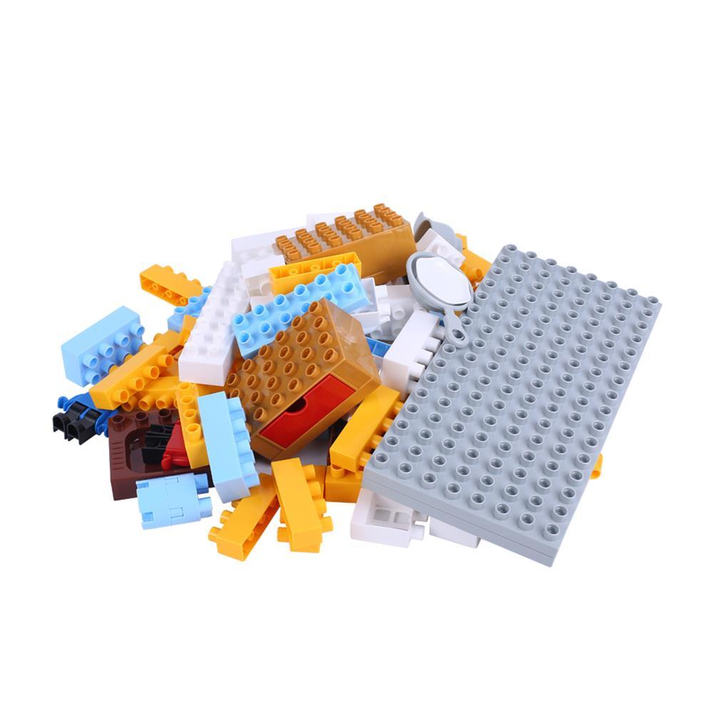 blocks-track-toys Goldkids HJ-35006A 87PCS Kitchen Series Rectangular Small Bucket DIY Assembly Blocks Toys for Children Gift HOB1664715 1