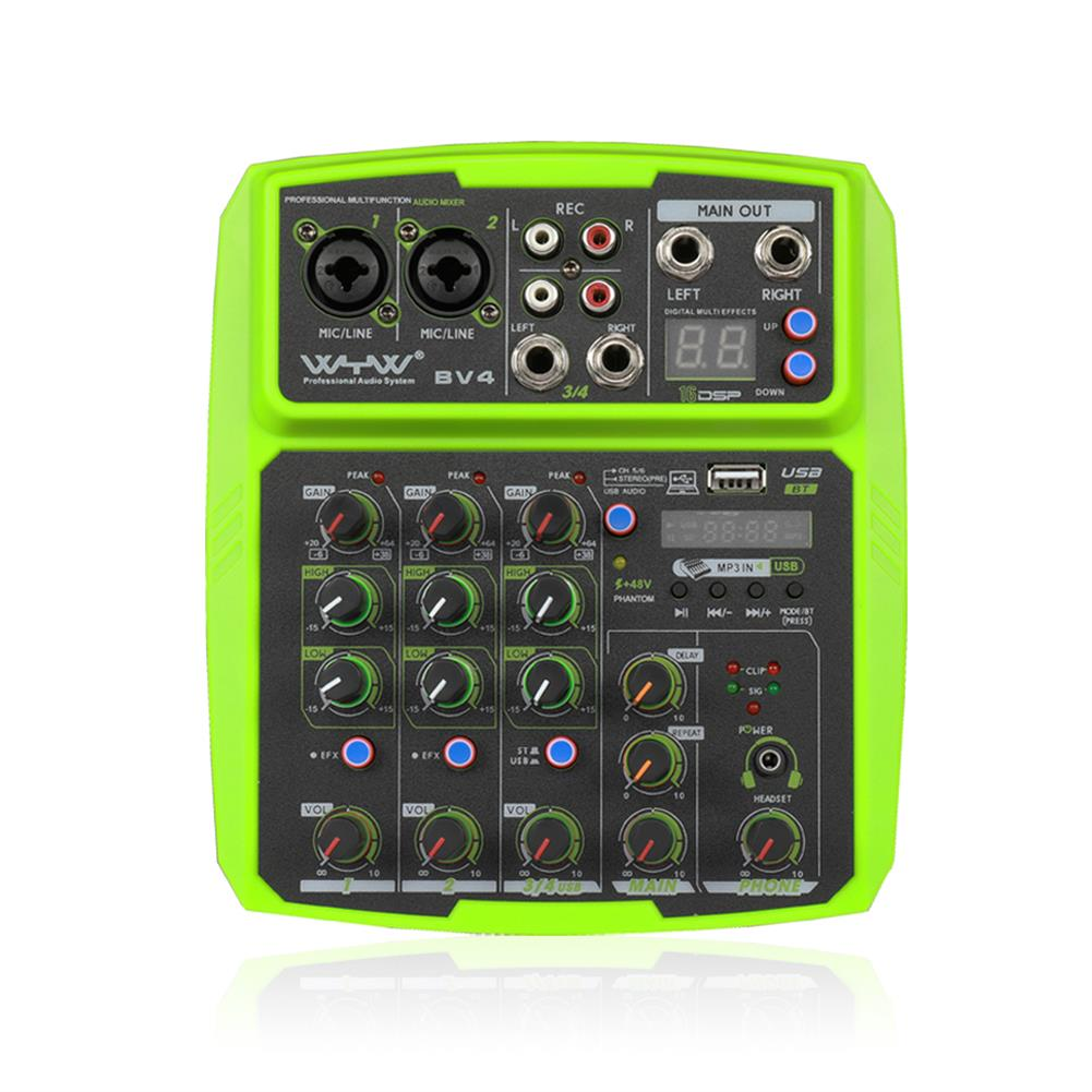 dj-mixers-equipment WENYANWEN Mini 2 Channel USB Delay and Repeat Efferts Audio Mixer Console with Bluetooth HOB1665021