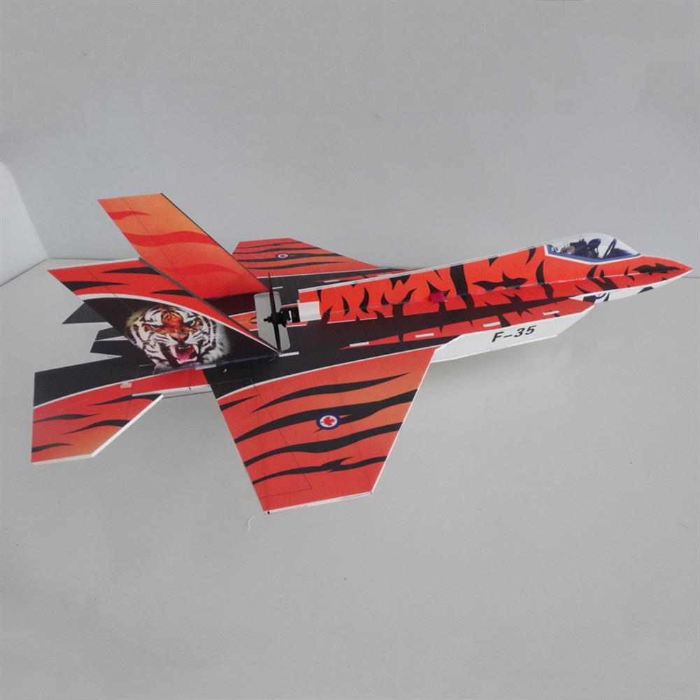 rc-airplane F35 5mm PP 800mm Wingspan Glue-n-go Foamboard RC Airplane Fixed-wing KIT for Trainer Beginner HOB1665168 1