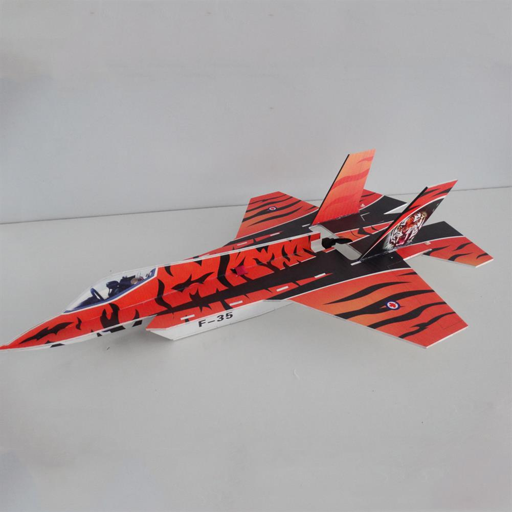 rc-airplane F35 5mm PP 800mm Wingspan Glue-n-go Foamboard RC Airplane Fixed-wing KIT for Trainer Beginner HOB1665168 2