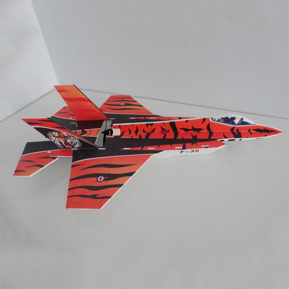 rc-airplane F35 5mm PP 800mm Wingspan Glue-n-go Foamboard RC Airplane Fixed-wing KIT for Trainer Beginner HOB1665168 3