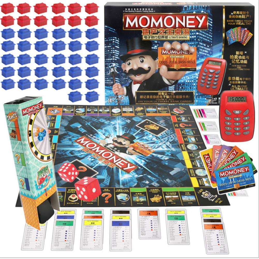 puzzle-game-toys Large Luxury Childrens Estate Credit Card Machine Tycoon Classic Board Game Toy HOB1665375 1