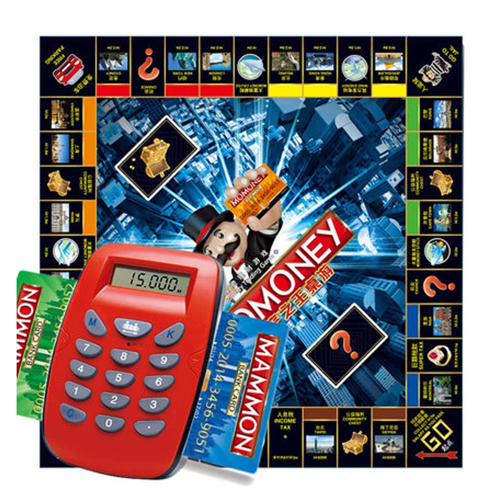 puzzle-game-toys Large Luxury Childrens Estate Credit Card Machine Tycoon Classic Board Game Toy HOB1665375 2