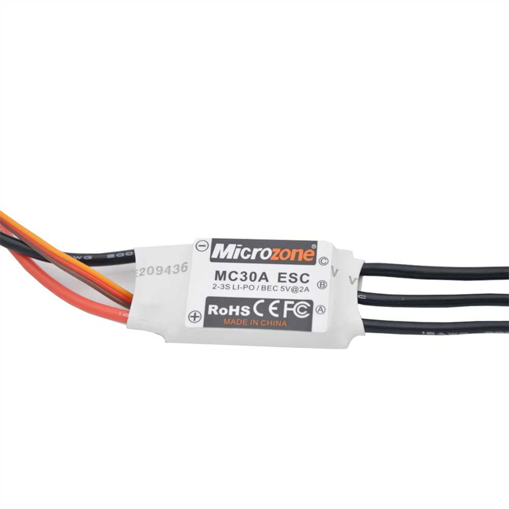 rc-airplane-parts MicroZone MC 30A 2-3S Brushless ESC Electronic Speed Control XT60 for RC Airplane RC Plane Spare Part HOB1667096