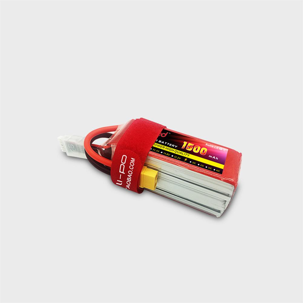 battery-charger RED Lipo 11.1V 1500mAh 3S 25C High Rate XT60/T Plug Lipo Battery for RC Airplane Fixed Wing RC Drone HOB1667497 1