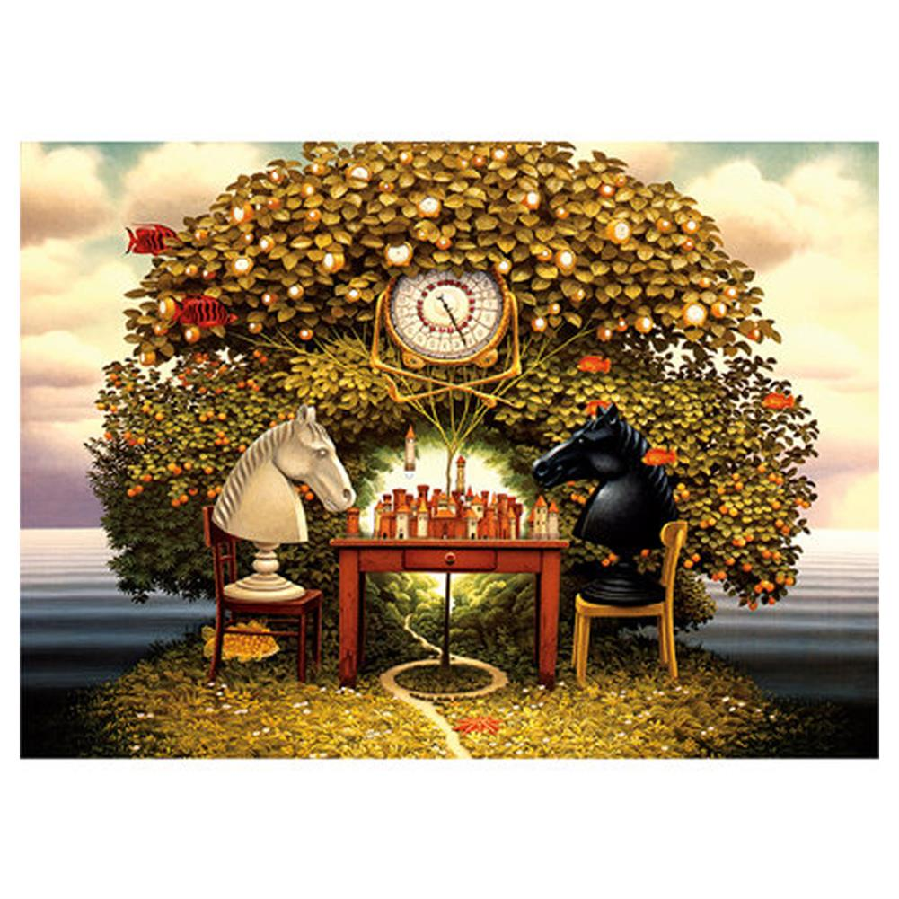 puzzle-game-toys 1000 Pieces Jigsaw Puzzle Toy DIY Assembly Paper Puzzle Painting Landscape Toy HOB1668947 1