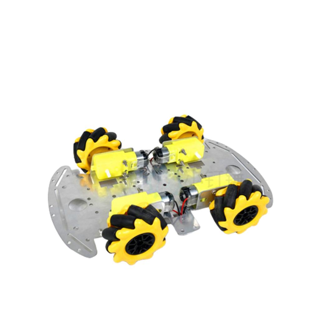 robot-parts-tools SNC380 Aluminum Alloy RC Robot Car Chassis Base with Mecanum Wheel HOB1669320