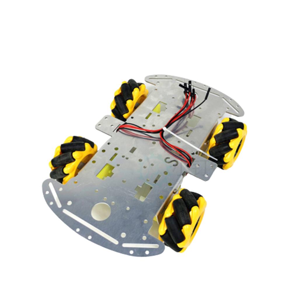 robot-parts-tools SNC380 Aluminum Alloy RC Robot Car Chassis Base with Mecanum Wheel HOB1669320 3