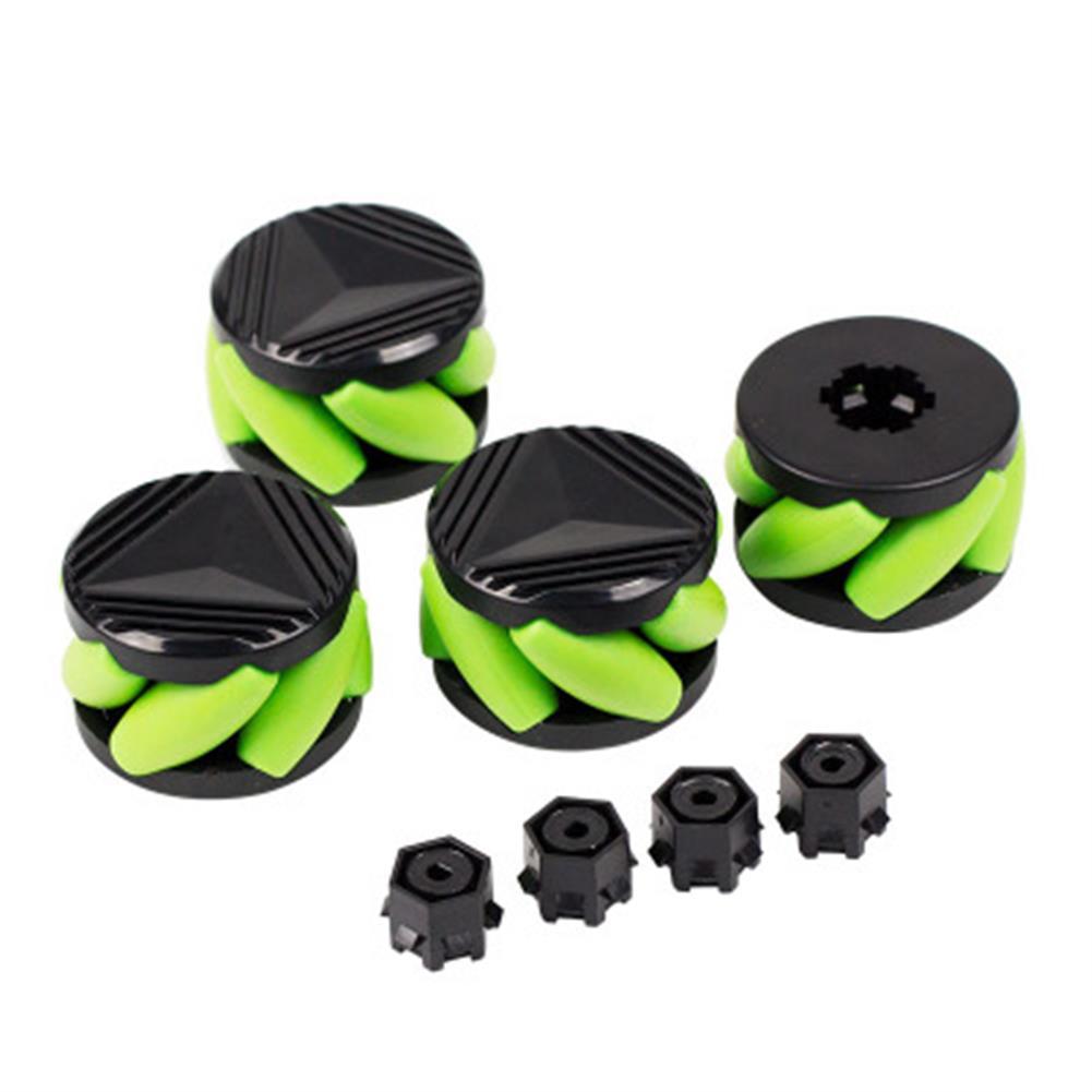 robot-parts-tools yahboom 4PCS 37mm Mecanum Wheels with Motor Shaft Coupling for Robot Car N20 Motor HOB1669345