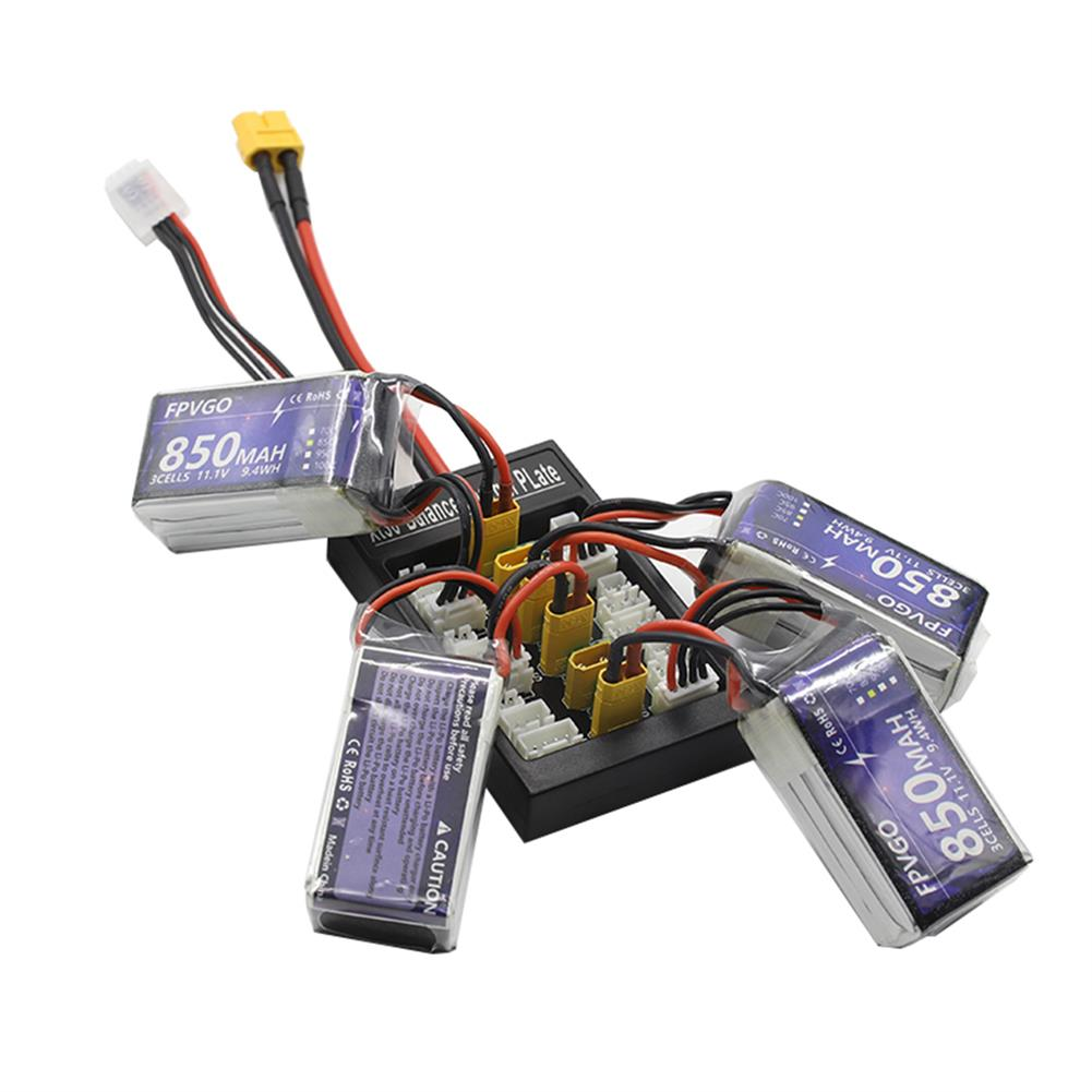 battery-charger B6FPV XT30 Plug Parallel Charging Board Support 1-3S Lipo Battery for iSDT D2 Q6 Nano Charger HOB1669349