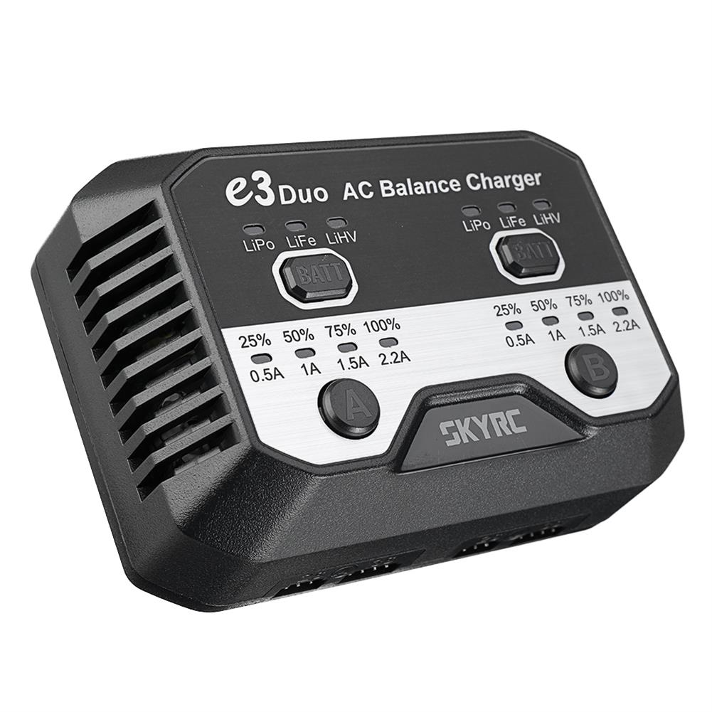 battery-charger SKYRC E3 Duo AC 2.2A 2X20W Balance Charger for 2-3S Battery HOB1669528 2