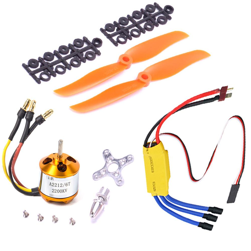 rc-airplane-parts XXD A2212 2200KV 2212 Brushless Motor + 6035 propeller + SG90 9g Micro Servo*2 + 30A ESC Combo for RC Airplane Fixed-wing Helicopter HOB1669705