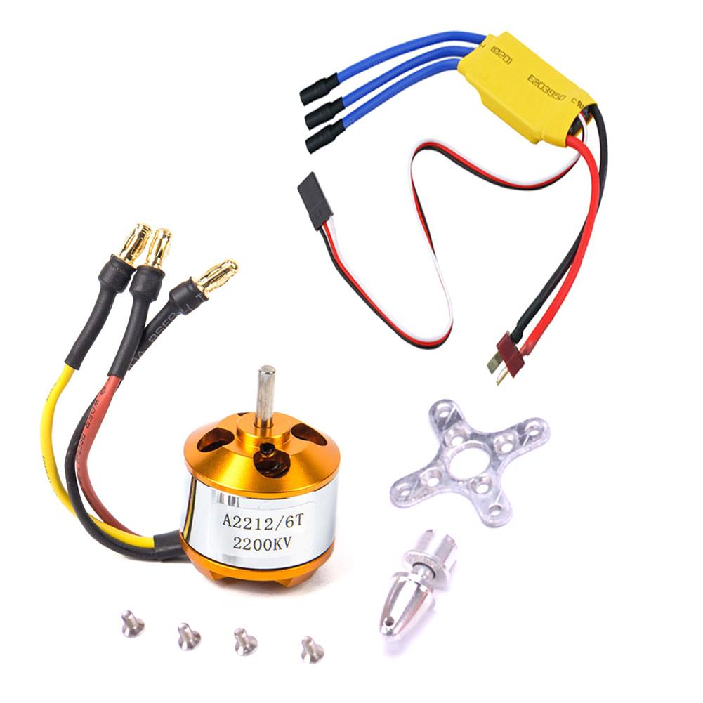 rc-airplane-parts XXD A2212 2200KV 2212 Brushless Motor + 6035 propeller + SG90 9g Micro Servo*2 + 30A ESC Combo for RC Airplane Fixed-wing Helicopter HOB1669705 1
