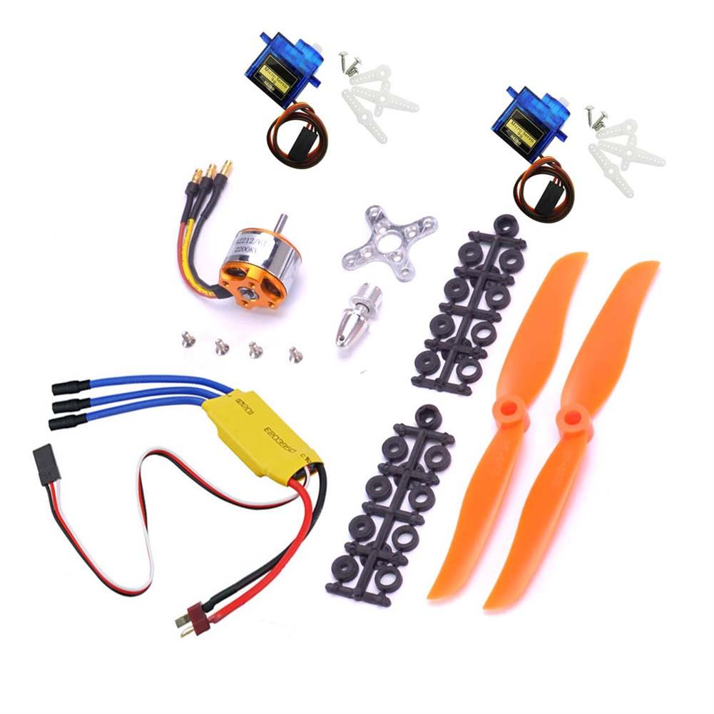 rc-airplane-parts XXD A2212 2200KV 2212 Brushless Motor + 6035 propeller + SG90 9g Micro Servo*2 + 30A ESC Combo for RC Airplane Fixed-wing Helicopter HOB1669705 2