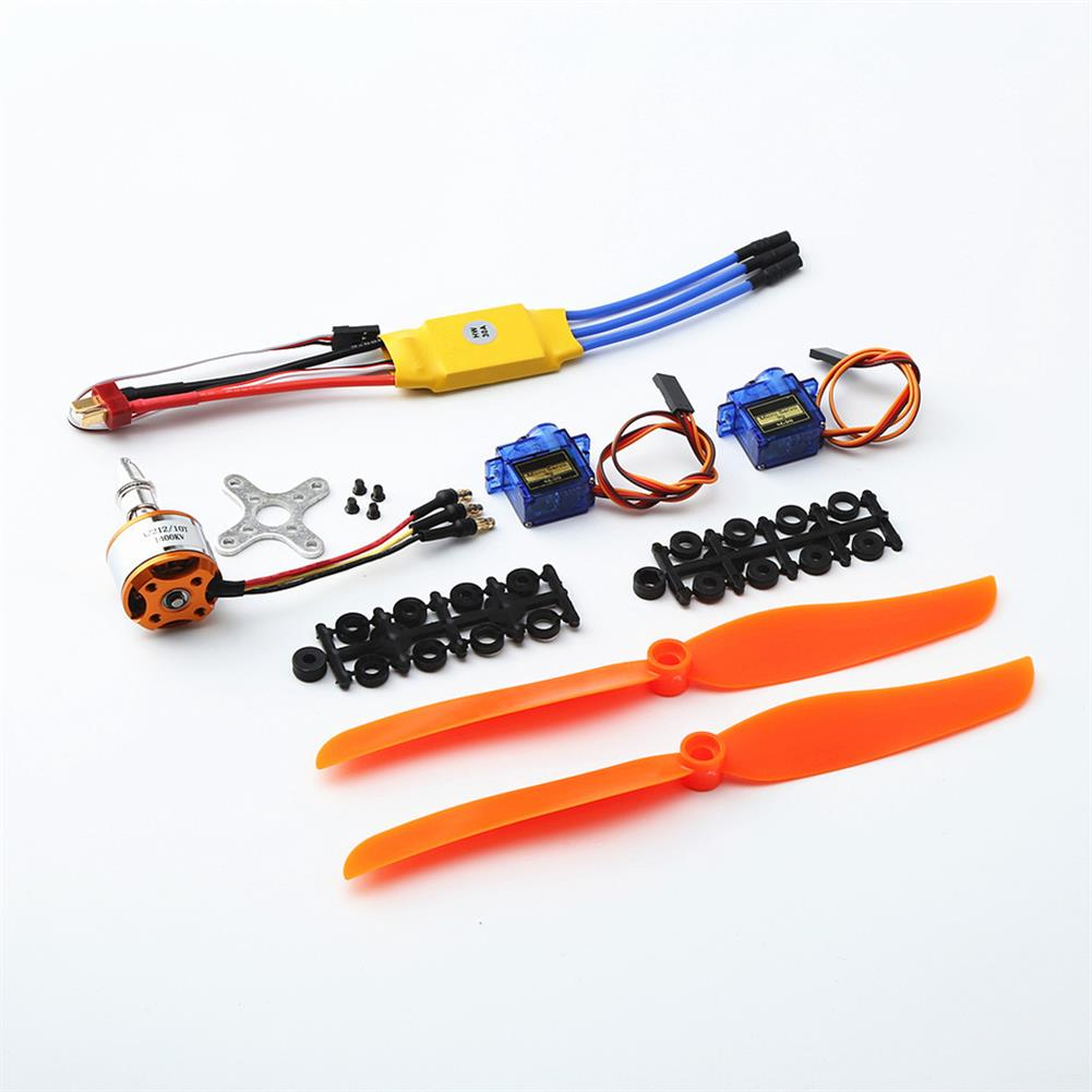 rc-airplane-parts XXD A2212 2212 1400KV Motor+8060 Propeller*2+9g Servo*2+30A ESC RC Power System Combo for RC Drone Airplane HOB1669781