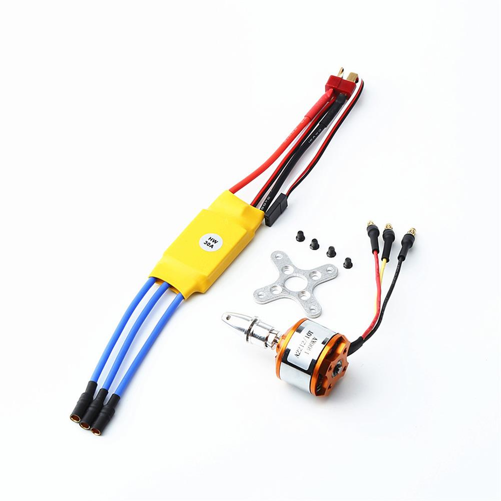rc-airplane-parts XXD A2212 2212 1400KV Motor+8060 Propeller*2+9g Servo*2+30A ESC RC Power System Combo for RC Drone Airplane HOB1669781 1