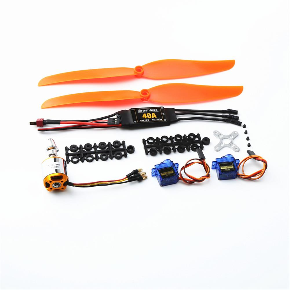 rc-airplane-parts XXD 2217 KV1100 Brushless Motor+1060 Propeller*2+9g Servo*2+40A ESC RC Power System Combo for RC Drone Airplane HOB1669819