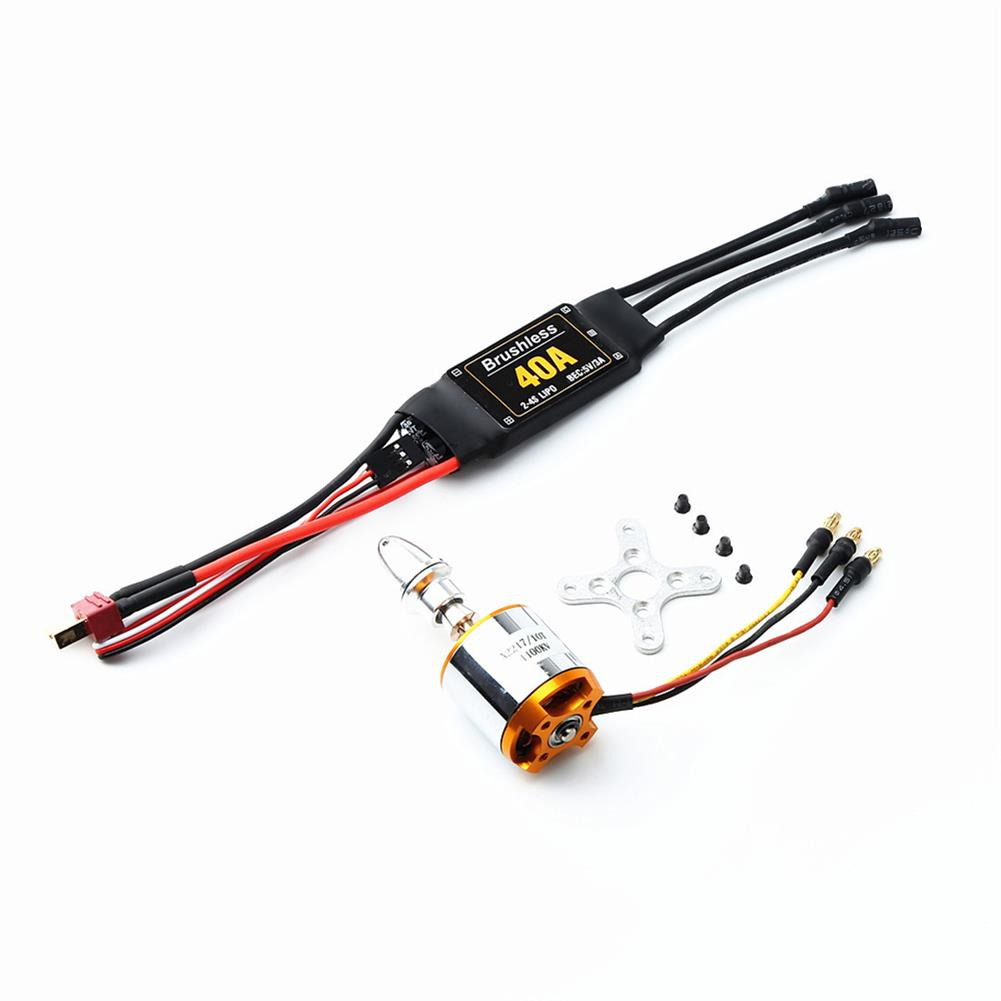 rc-airplane-parts XXD 2217 KV1100 Brushless Motor+1060 Propeller*2+9g Servo*2+40A ESC RC Power System Combo for RC Drone Airplane HOB1669819 2